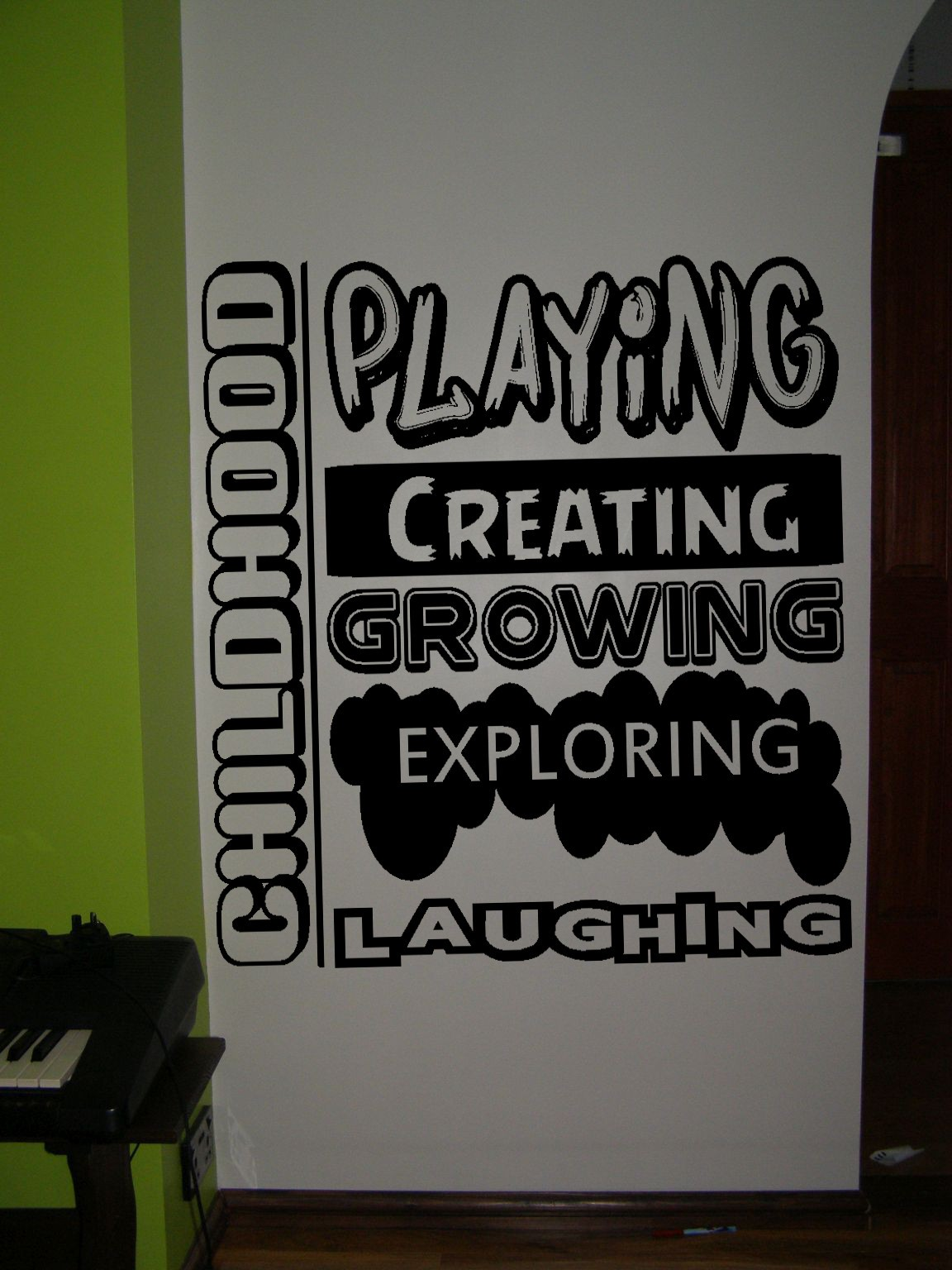 kids bedroom rules decorative bedroom wall art sticker wall decal