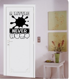 Little dirt never hurt boys bedroom wall art sticker.