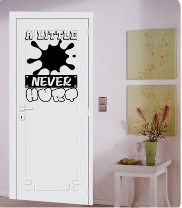 Little dirt never hurt boys bedroom wall art sticker, wall decal.