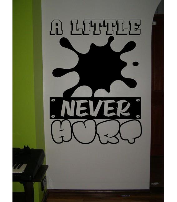 Little dirt never hurt boys bedroom wall art sticker, wall decal.
