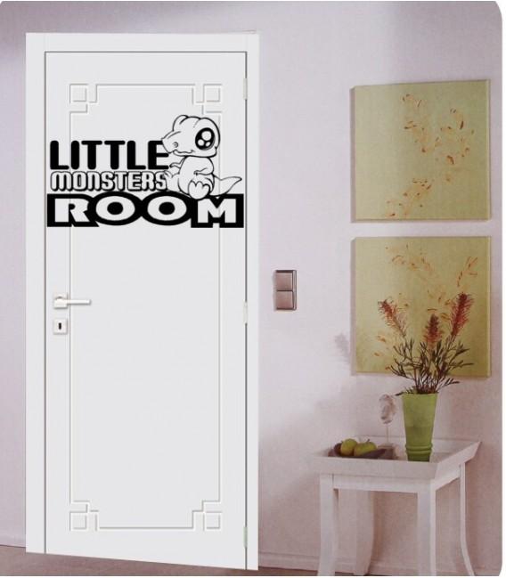 Little monsters room kids bedroom vinyl wall sticker, bedroom door sticker.