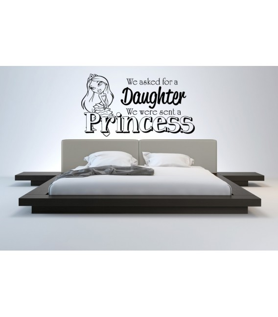 We asked for a daughter we were sent a princess girl bedroom wall sticker, children bedroom decal.