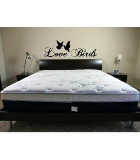 Love birds romantic wall art sticker, bedroom wall decals.