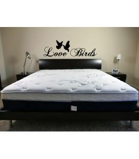Love birds romantic wall art sticker, bedroom wall decals.