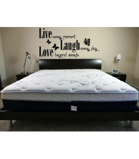 Live laugh love romantic wall art sticker.