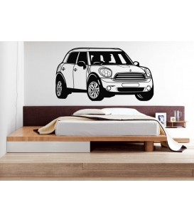 Mini Morris wall sticker, Mini Morris car wall graphics for bedroom wall decoration.