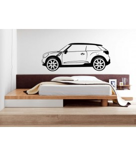 Mini Paceman wall sticker, Mini Paceman car wall graphics for bedroom wall decoration.