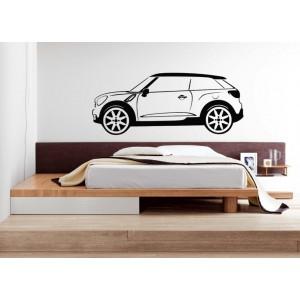 Mini Paceman wall sticker, Mini Paceman car wall graphics bedroom wall decoration.