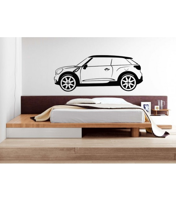Mini Paceman wall sticker, Mini Paceman car wall graphics bedroom wall decoration.