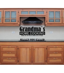 Grandmas home cooking dining room wall sticker.