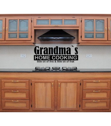 Grandmas home cooking wall decal, dinning room wall sticker.