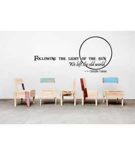 Follow the sun quote wall decal, living room wall sticker, wall graphics.