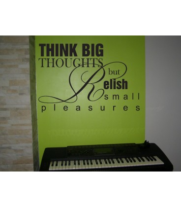 Think big quote wall decal, living room wall sticker, wall graphics.