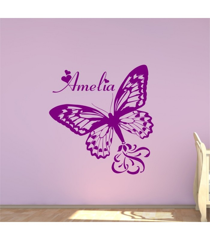 Personalised butterfly wall art sticker butterfly wall decals graphics