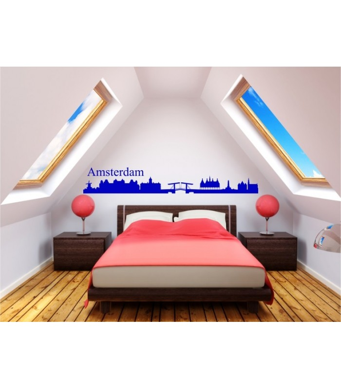 Amstedam City Skyline Wall Decal Living Room Sticker Graphics