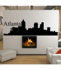 Atlanta city skyline wall decal, living room wall sticker.