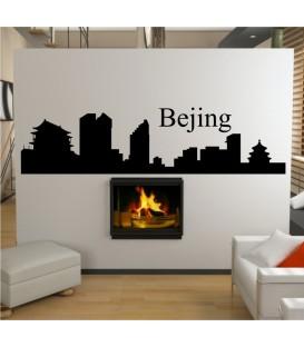 Bejing city skyline wall decal, living room wall sticker.