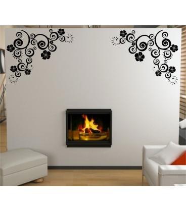 Flower Art Wall Decal Living Room Decorative Sticker Graphics