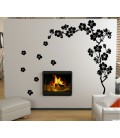 Plum blossom wall decal, plum blossom wall sticker.