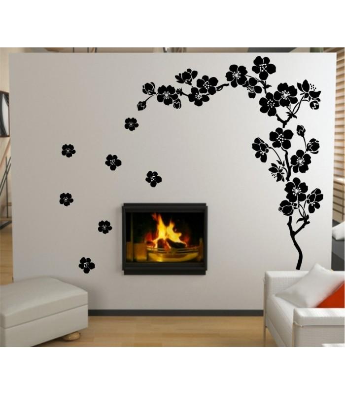 Plum blossom wall decal plum blossom wall sticker for for Sticker decorativos para ninos