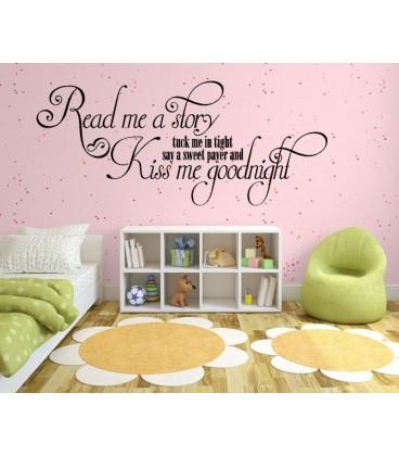Mum Kiss Me Goodnight Girls Bedroom Wall Sticker, Wall Decal. Part 93