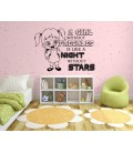 A girl with freckles bedroom wall sticker, wall decal.