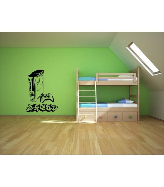 Xbox one console bedroom wall sticker, Xbox wall art decal.