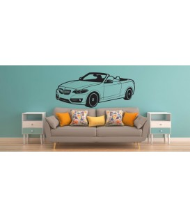 BMW convertible wall sticker, BMW car wall graphics for bedroom wall decoration.