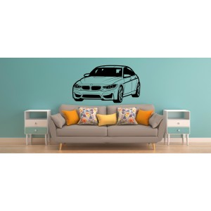 BMW wall sticker, BMW car wall graphics for bedroom wall decoration.