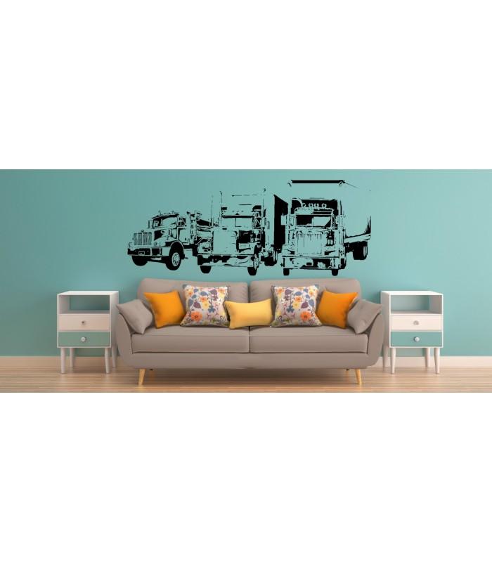trucks wall sticker car wall sticker boy bedroom decoration