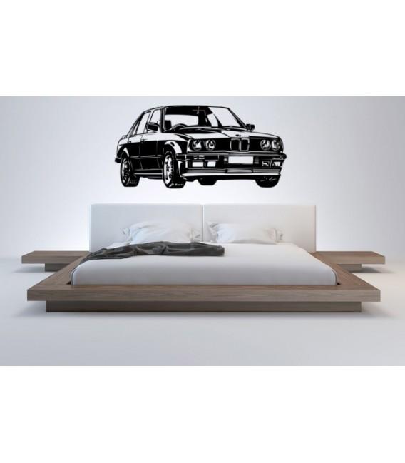 BMW3 wall decal, boys bedroom decorative wall sticker.