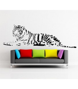 Laying Tiger decorative wall art sticker, tiger wall decal.