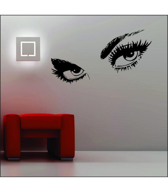 Audrey Hepburn\'s eyes vinyl wall art stickers, eyes wall graphics.