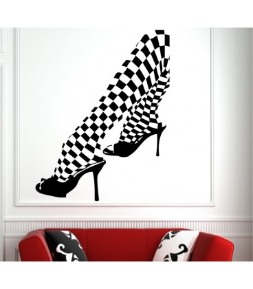 Sexy legs large wall sticker for living room wall decoration.