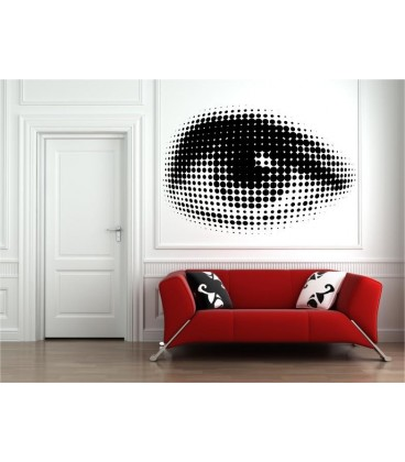 Sexy Eye Vinyl Wall Stickers, Eye Wall Decal.