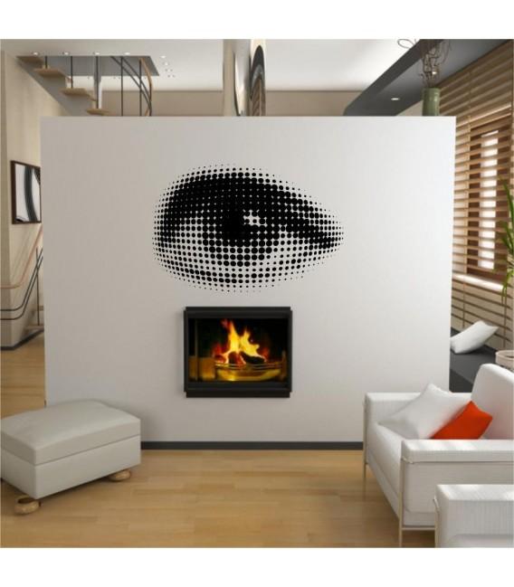 Sexy eye vinyl wall stickers, eye wall decal.