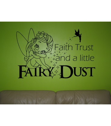 Fairy Dust kids bedroom wall sticker UK, wall art decal, wall graphics.