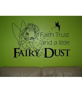 Fairy Dust kids bedroom wall sticker UK, wall art decal, wall graphics.