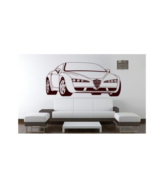 Alfa Romeo wall decal, boys bedroom wall art sticker.