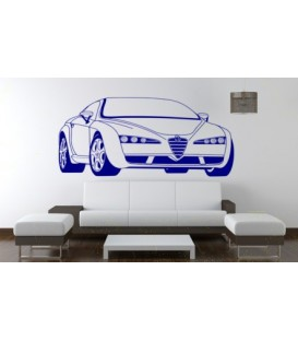 Alfa Romeo wall decal, boys bedroom wall art sticker.