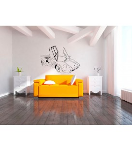 Sports super car Ferrari wall decal, boys bedroom giant decorative wall sticker. Ferrari sticker.