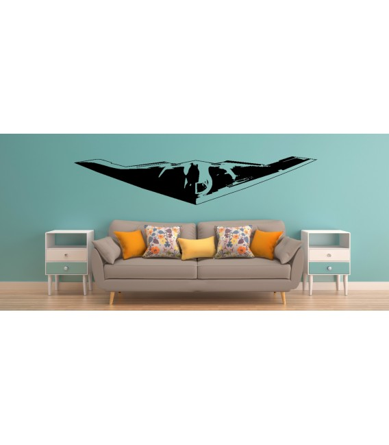 F-35 US AIR Force stealth fight jet wall decal boy bedroom wall graphics.