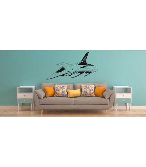 F-16 US AIR Force fight jet wall decal boy bedroom wall graphics.