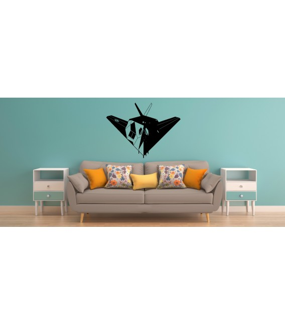F-117 Nighthawk US jet bomber wall decal boy bedroom wall graphics.