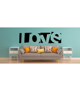 Love word romantic wall art sticker, bedroom wall decals.