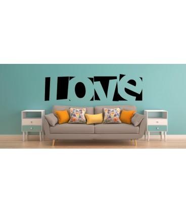 Love word romantic wall art sticker, bedroom wall decals.