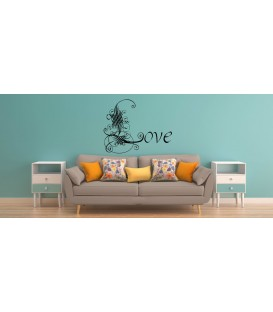 Artist Love word romantic wall art sticker, bedroom wall decals.