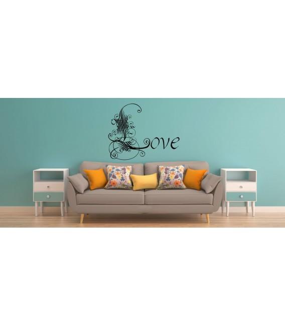 Artist Love word romantic wall art sticker, bedroom wall decals.