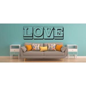 Love word like canvas romantic wall art sticker, bedroom wall decals.