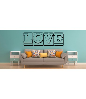 Love word like canvas romantic wall art sticker, bedroom wall decals.